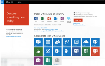 Office 365 Install menu