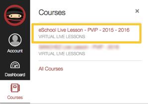 Courses Menu