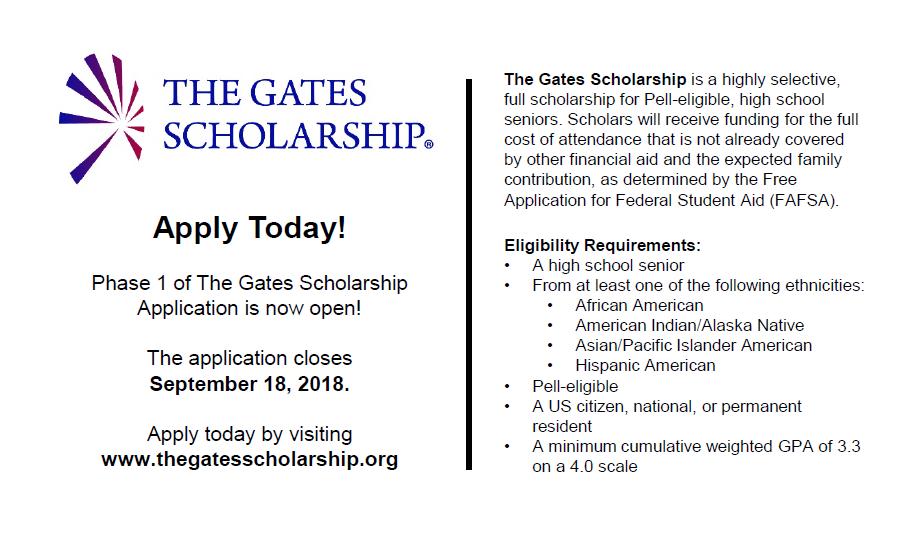 Gates Scholarship