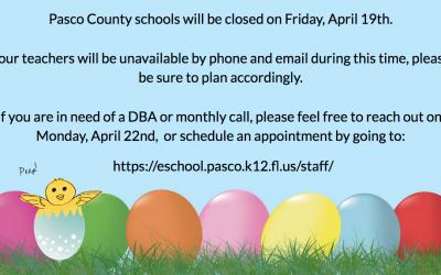 School Closed April 19th